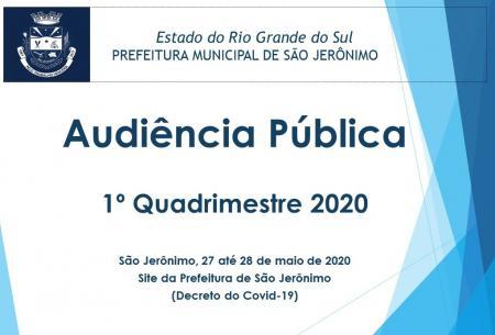 Audiência Pública 1º Quadrimestre 2020