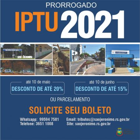 IPTU 2021 PRORROGADO